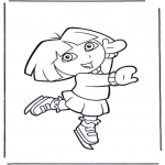 Kids coloring pages - Dora the Explorer 22