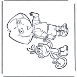 Kids coloring pages - Dora the Explorer 23