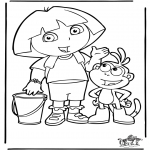 Kids coloring pages - Dora the Explorer 4