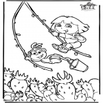 Kids coloring pages - Dora the Explorer 6