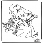 Kids coloring pages - Dora the Explorer 8