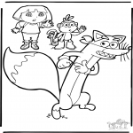 Kids coloring pages - Dora the Explorer 9