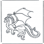 Animals coloring pages - Dragon 1