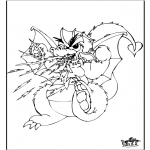 Animals coloring pages - Dragon 3