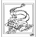 Animals coloring pages - Dragon 4