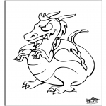 Animals coloring pages - Dragon 6