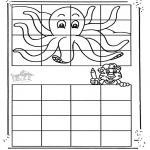 Crafts - Drawing octopus