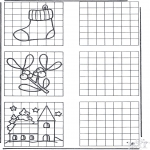 Christmas coloring pages - Drawing X-mas 1