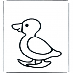 Animals coloring pages - Duck 1