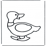 Animals coloring pages - Duck 2