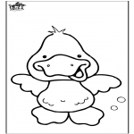 Animals coloring pages - Duck 6