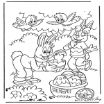 Theme coloring pages - Easter 1