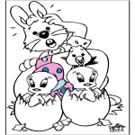 Theme coloring pages - Easter 10