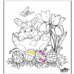 Theme coloring pages - Easter 11