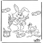 Theme coloring pages - Easter 4