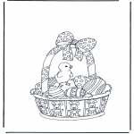 Theme coloring pages - Easter basket
