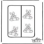 Theme coloring pages - Easter Bookmark 2
