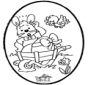 Easter bunnies - Pricking card 1