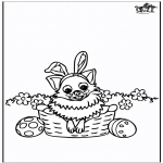 Theme coloring pages - Easter Dog