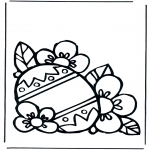 Theme coloring pages - Easter egg 1