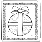 Theme coloring pages - Easter egg 2