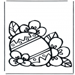 Theme coloring pages - Easter egg 3