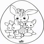 Theme coloring pages - Easter egg 6