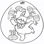 Theme coloring pages - Easter egg 7