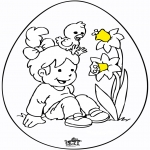 Theme coloring pages - Easter egg 8
