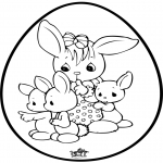 Theme coloring pages - Easter egg - Pricking card 1