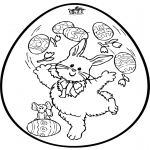 Theme coloring pages - Easter egg - Pricking card 2