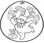 Easter egg - Pricking card 2