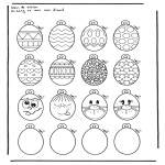 Theme coloring pages - Easter eggs