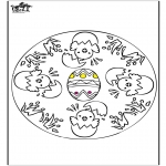 Theme coloring pages - Easter mandala 1