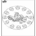 Theme coloring pages - Easter mandala 2