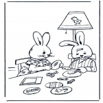 Theme coloring pages - Easterbunny 11