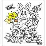 Theme coloring pages - Easterbunny 12