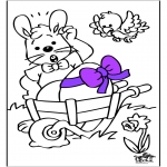 Theme coloring pages - Easterbunny 14