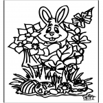 Theme coloring pages - Easterbunny 16