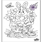 Theme coloring pages - Easterbunny 17