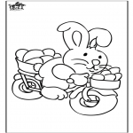 Theme coloring pages - Easterbunny 19