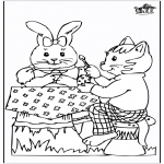 Theme coloring pages - Easterbunny 20