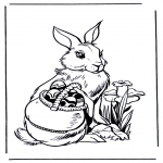 Theme coloring pages - Easterbunny 3
