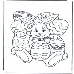 Theme coloring pages - Easterbunny 4