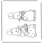 Theme coloring pages - Easterbunny 7