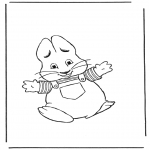 Theme coloring pages - Easterbunny 8
