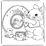 Theme coloring pages - Easterbunny 9