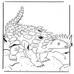 Animals coloring pages - Edmontonia