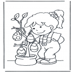 Theme coloring pages - Eggs in the tree