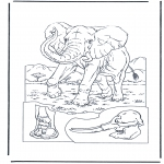 Animals coloring pages - Elephant 1